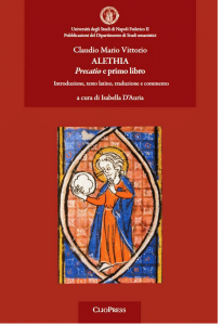 Cover for Alethia: Precatio and first book. Introduction, Latin text, translation and commentary