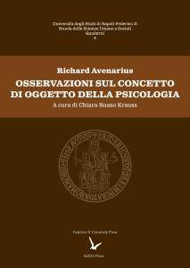 Cover for Remarks on the concept of object of psychology
